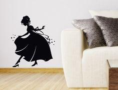 Wall Vinyl Decal Sticker Art Design Silhouette of Cinderella Wearing Her Glass Slipper Room Nice Picture Decor Hall Wall Chu940 Thumbs up decals,http://www.amazon.com/dp/B00K18QAFU/ref=cm_sw_r_pi_dp_-bTHtb1G60VJ6N96