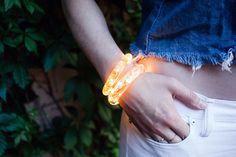 DIY resin fairy light bracelet tutorial