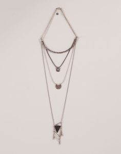 Pull&Bear - woman - jewellery - 4-pack nacklaces - silver - 05995322-V2016