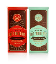 tins designed for Williams-Sonoma's new line of Artisan Hot Chocolates > lab partners