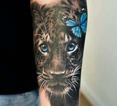 Wild cat tattoo