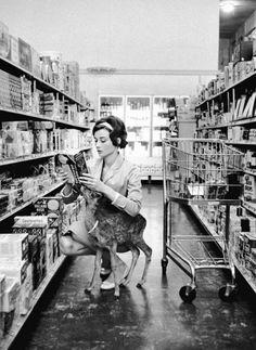 17. Audrey Hepburn e seu cervato Pippin