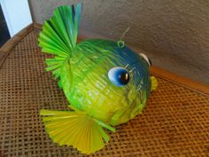 Coconut fish made of natural materials found in Pine Island Florida.. $35.00, via Etsy.