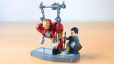 I made a work in progress Iron Man Lego Minifigure Display, Lego Custom Minifigures, Lego Display, Lego Robot, Lego Mecha, Lego Pictures, Lego Pics, Lego Iron Man, Lego Dragon