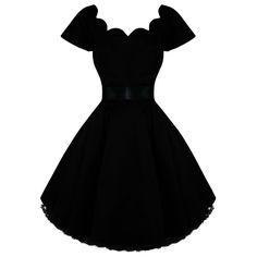 Hearts Roses London Black Vintage 50s Party Prom Swing Full Flare Jive Dress | eBay $55.91