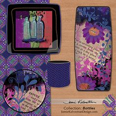 Random Quotes - Art Licensing - Tabletop Linens and Dinnerware