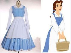 belle blue dress costume beauty and the beast adult princess adults kids kid southern dresses sale halloween costumes for women Belle Cosplay, Disney Cosplay, Lolita Cosplay, Cosplay Diy, Belle Blue Dress Costume, Princess Belle Costume, Costume Dress, Diy Belle Costume, Belle Outfit