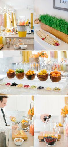 Amazing Sunday Brunch Juice Bar- you say juice bar I say mimosa bar