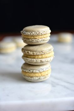 New post today! Earl grey tea macaroons with an orange infused white chocolate ganache! Tea Recipes, Cookie Recipes, Dessert Recipes, Frosting Recipes, Macaroons, Macaron Cookies, Shortbread Cookies, Earl Grey Tee, Yummy Treats