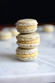 Earl Grey Tea Macarons - Lauren Caris Cooks