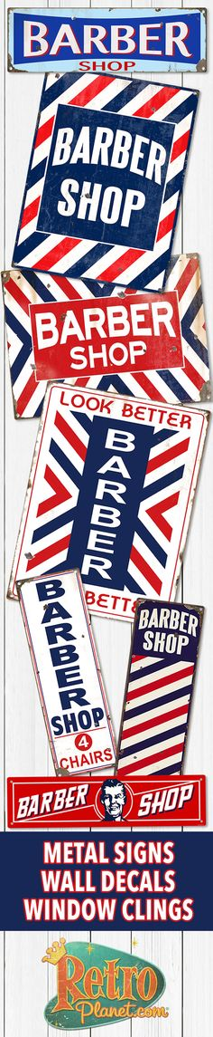 Barber Shop Metal and Tin Signs