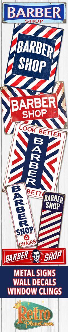 Barber Shop Metal and Tin Signs