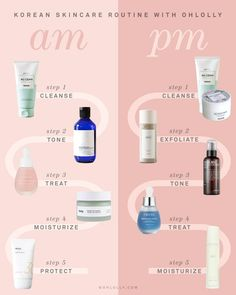 Korean Beauty Routine – OHLOLLY Oily Skin Care, Face Skin Care, Dry Skin, Sensitive Skin Care, Skin Care Regimen, Skin Care Tips, Basic Skin Care Routine, Nightly Skin Care Routine, Face Care Routine