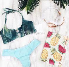 Brazilian bikini 2016 swimwear women maillot de bain swimsuit green bandage bathing suit biquini costumi da bagno donna bikinis $8.98