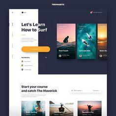 Surfing by Dwinawan Website Design Inspiration, Blog Website Design, Website Layout, Web Layout, Layout Design, Daily Inspiration, Design Web, App Ui Design, Interface Design