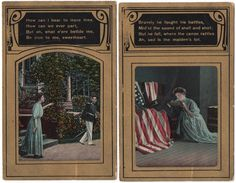 Antique Postcards Patriotic Romance Poetry US Military War Era German Made  | eBay