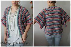 rabbithole, #haken, gratis patroon en tutorial,  Nederlands, granny stripe vest, #haakpatroon, #crochet, cardigan, free pattern (English, Dutch)