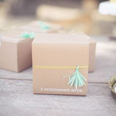 craft box with tassel {finge} wedding favor   photo by This Love of Yours   100 Layer Cake