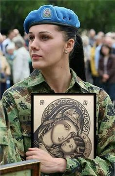 Holiday Party Discover serbian solider holding an icon Religion Byzantine Icons Orthodox Christianity Military Women Female Soldier Orthodox Icons Serbian Sacred Art Christen Religion, Greek Warrior, Byzantine Icons, Orthodox Christianity, Female Soldier, Military Women, Jesus Pictures, Catholic Art, Orthodox Icons