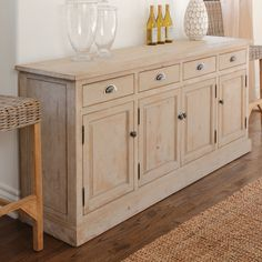 Rustic Dining Room Buffet Table Farmhouse-Style Buffets