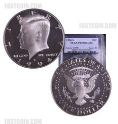 1994-S PCGS PR70DCAM Clad Proof Kennedy Half Dollar Kennedy Half Dollar, Proof Coins, In God We Trust, Personalized Items