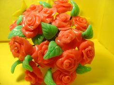 Wundervoller Rosenstrauß handgearbeitet - wonderful handmade roses