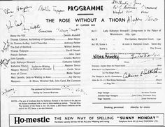 Old Programme in Perth Theatre Scotland Thomas Cranmer, Brian Hayes, Pantomime, Concert Hall, Westminster, Perth, Theatre, Scotland, History