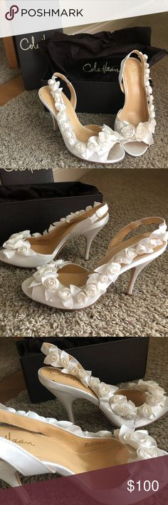 4193c349a6e Cole Haan Like New Ceci Air Rose Slingback Wedding Perfect for wedding  shoes. EUC from
