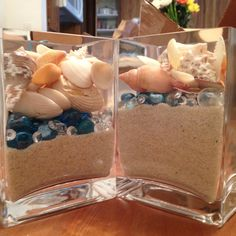 Wedding centerpiece I made for my beach themed wedding