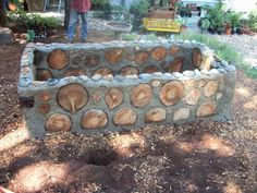 Cordwood raised bed (use concept for retaining walls too...?)