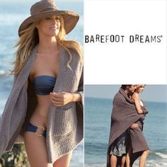 "Wrap yourself in luxury and comfort! Barefoot Dreams Wraps and Throws are a stylish substitute for a ""Grown Up"" Security Blanket! We know that you'll want to take one everywhere you go!"