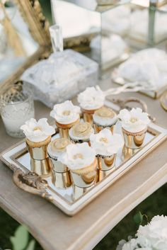 Sparkling does not even begin to describe Lana & Hisham's an Incredibly chic ivory wedding in Mykonos Wedding Desserts, Wedding Cakes, Sweet Buffet, Traditional Wedding Cake, Dessert Bars, Dessert Tables, Thanksgiving Centerpieces, Cupcakes, Wedding Mood Board