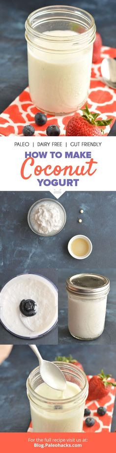 Blend up this creamy, dairy-free Coconut Yogurt for a healthy probiotic breakfast or snack! Get the recipe here: http://paleo.co/cocoyogurtrcp