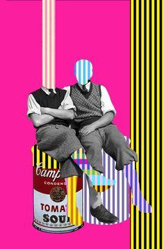 Serie: Failed Memory of Leo & Pipo - David Szauder Art Du Collage, Collage Design, Digital Collage, Design Art, Illustration Design Graphique, Illustration Art, Photomontage, Graphic Design Posters, Graphic Art