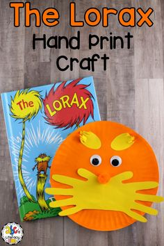 Creating The Lorax Inspired Hand Print Craft is a fun way for children to celebrate reading month and Dr. Seuss' birthday on March 2nd. This paper plate craft is easy for young children to make and a creative activity to make after reading the picture book. Your students and their families will love the addition of adorable hand print mustache too. Click on the picture to learn how to make this book-inspired Dr. Seuss craft! #drseussbirthday #drseusscraft #theloraxcraft #bookinspiredcraft