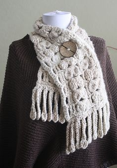 Tumbling Shells scarf by Yumiko Alexander.  Crochet