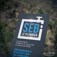 Cartes de Visite 350g - Qualité Supérieure Soft Touch - Impression vernis Brillant 3D > SEB LE PLOMBIER - Martigues Artwork by www.sphereandnet.com