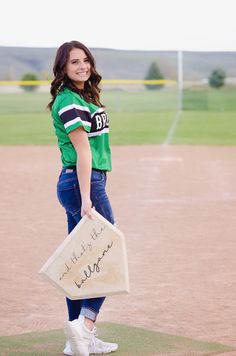 Senior pictures Softball senior pics More from my site Unique Senior Pictures Ideas For Girls Cute Senior Pictures, Senior Photos Girls, Senior Picture Outfits, Sports Pictures, Senior Girls, Senior Pic Poses, Baseball Pictures, Cheer Pictures, Senior Session