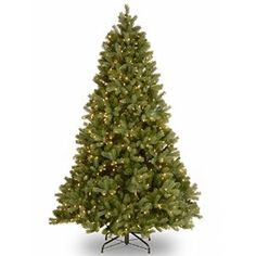 "Amazon.com: National Tree 6-1/2-Feet ""Feel-Real"" Downswept Douglas Fir Hinged Tree with 650 Clear Lights: Home & Kitchen"