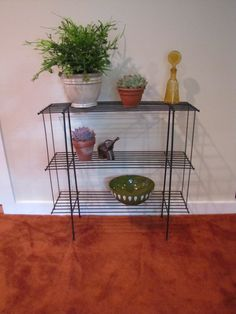 Cute, Wire Plant Stand With Original Black Paint. Use Or Your Patio Or  Anywhere