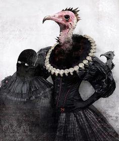 Bird People, Photocollage, Animal Heads, Macabre, Mask Design, Dark Art, Pet Portraits, Creepy, Weird