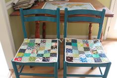 Patchwork Chair Cushions