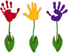 """Fun way to watch little hands grow! """"Plant"""" some each spring!"""