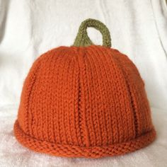 6948e3588c499 Items similar to Little Kids Pumpkin Patch Beanie with green stem. Adorable  for photo prop. on Etsy