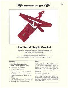Red Belt & Bag to Crochet - Dovetail Designs C4.2