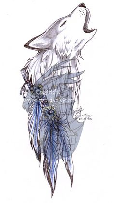 9dac193ae Howling Wolf by daisyamnell Howling Wolf Tattoo, Wolf Howling, Wolf Tattoo  Design, Tattoo