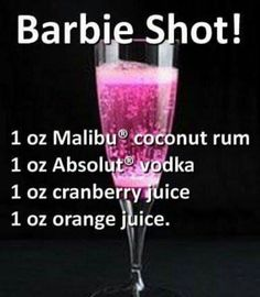 Delicious St Patricks Day Cocktails barbie shot – Cocktails and Pretty Drinks Liquor Drinks, Cocktail Drinks, Pink Alcoholic Drinks, Vodka Cocktails, Martinis, Grapefruit Cocktail, Kahlua Drinks, Liquor Shots, Alcholic Drinks