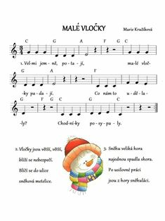 Zimní-malé vločky Kids Songs, Advent, Christmas Time, Poems, Education, Preschool Winter, Projects, Songs For Children, Nursery Songs