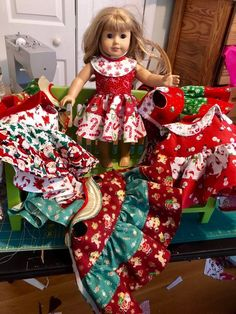 """18/"""" American Girl Doll Christmas Stocking From Elf Set Holiday Accessory Toys"""