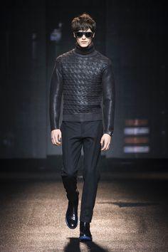 Rubberized Wool Sweater, Salvatore Ferragamo Fall/Winter Men's Collection 2013. Men's Fall Winter Fashion.